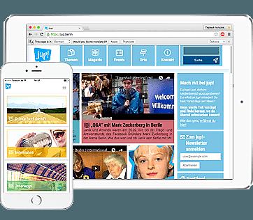 Jugend-Portal App entwickelt von Pocketweb